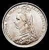 Sixpence 1887 Jubilee Head Withdrawn type R over I in VICTORIA Davies 1152 UNC or near so and lustrous with some light contact marks