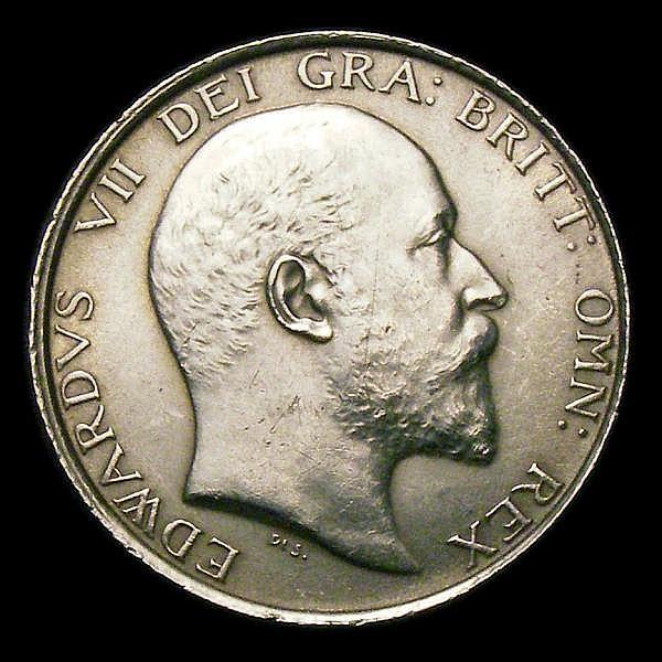 Shilling 1904 ESC 1413 Davies 1552 dies 1A UNC/AU the obverse with a thin scratch on the portrait