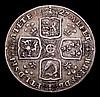 Shilling 1727 George II, Plumes ESC 1189 Fine/Good Fine, Rare