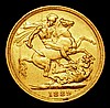 Sovereign 1889M G: of D:G: closer to crown S.3867B VF