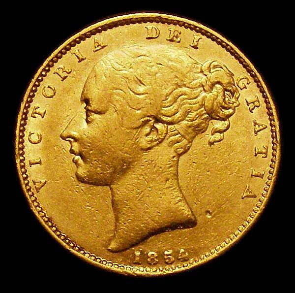 Sovereign 1854 WW Incuse S.3852D Good Fine