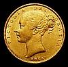 Sovereign 1854 WW Incuse S.3852D Good Fine