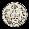 Sweden 25 Ore 1856 Unc