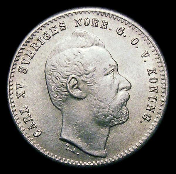 Sweden 25 Ore 1871 Unc