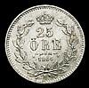 Sweden 25 Ore 1864 Unc