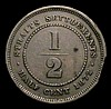 Straits Settlements Half Cent 1872H KM#8 Near Fine with an edge knock and a spot on the reverse