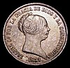 Spain 20 Reales 1851 KM#593.2 Good Fine, toned
