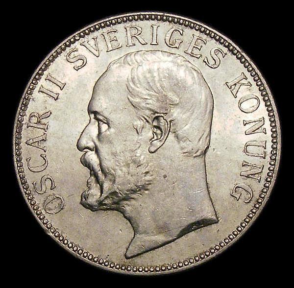 Sweden 2 Kronor 1906 GEF/Unc KM773
