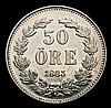 Sweden 50 Ore 1883 Unc or near so