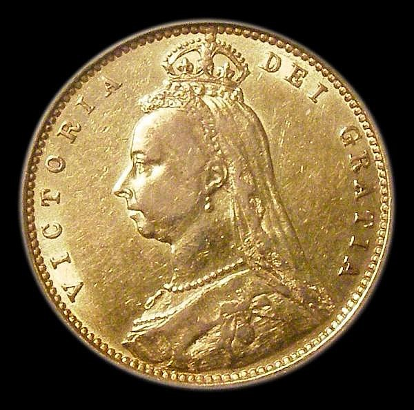 Half Sovereign 1892 No JEB Marsh 481A VF, slabbed and graded LCGS 45