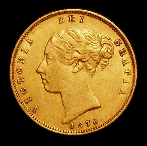 Half Sovereign 1876 Marsh 451 Die Number 2 VF and pleasing for the grade