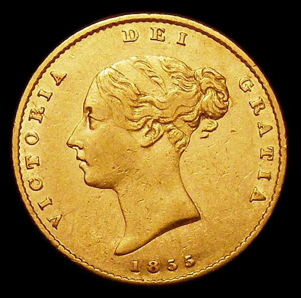 Half Sovereign 1855 Marsh 429 Good Fine