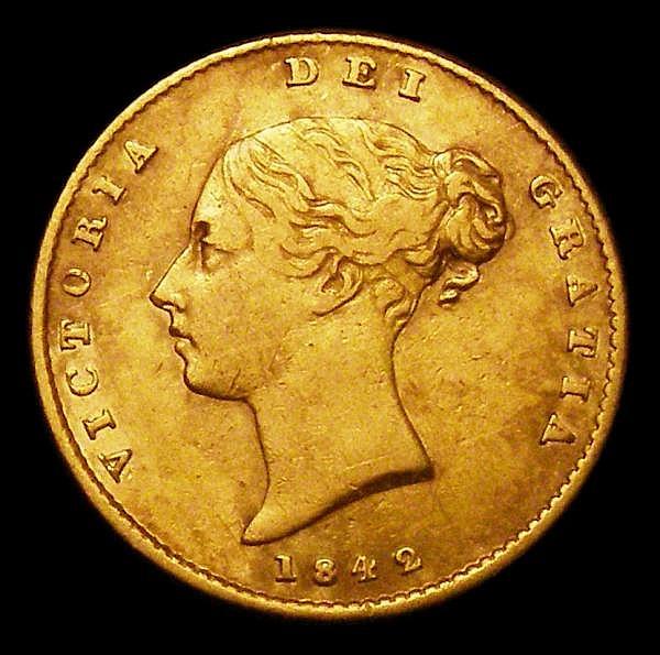 Half Sovereign 1842 Marsh 416 Fine/Good Fine