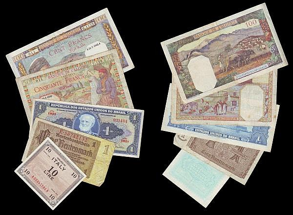 World (22) including British Military Authority 10/-, 5/-, 2/6 and 1/- circulated grades