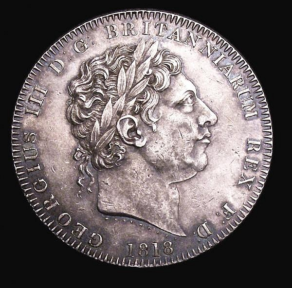 Crown 1818 LVIII 211 GVF and nicely toned, with some contact marks