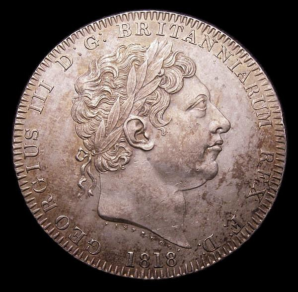 Crown 1818 LIX ESC 214 EF toned, slabbed and graded CGS 65