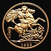 Two Pounds 1988 Gold Proof S.4261 FDC uncased