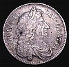 Halfcrown 1675 Retrograde 1 ESC 477A NVF with some haymarking and an edge nick at the top of the reverse, Rare, Ex-M.Rasmussen