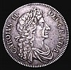 Halfcrown 1672 VICESIMO QVARTO Fourth Bust ESC 472 VF with an edge nick by REX and a small flan flaw on the Irish shield otherwise with an attractive grey tone with much overall eye appeal, Ex-Spink, Ex-M.Rasmussen, our records indicate this is only