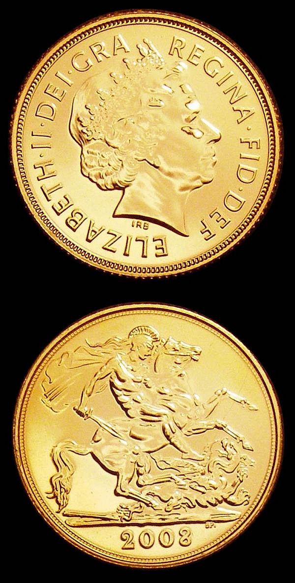 Sovereigns 2008 S.4430 (2) both lustrous UNC