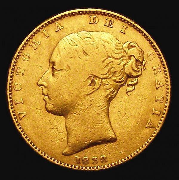 Sovereign 1838 Marsh 22 About Fine/Fine