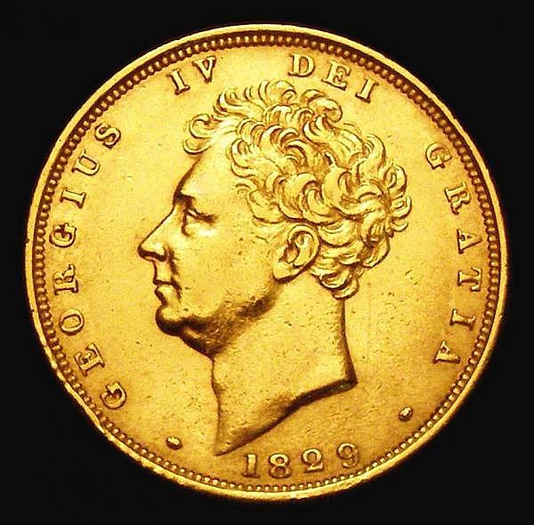 Sovereign 1829 Marsh 14 VF