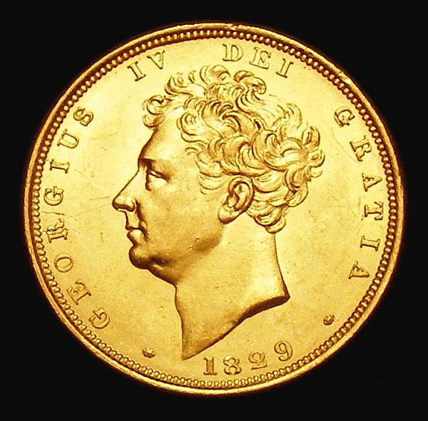 Sovereign 1829 Marsh 14 GEF/UNC and lustrous the obverse with some light contact marks