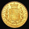 Sovereign 1838 Marsh 22 EF/GEF with some light contact marks, Very Rare in this high grade