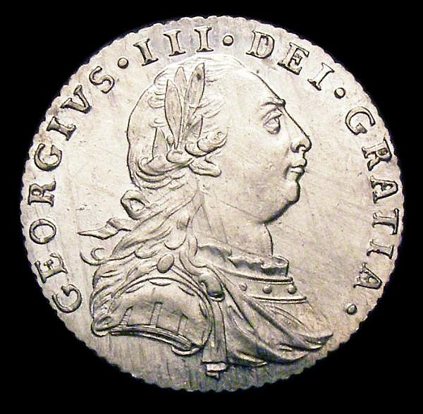 Sixpence 1787 No Hearts ESC 1626 UNC and lustrous, the obverse with some hairlines