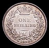 Shilling 1839 No WW on truncation ESC 1283 EF with a small scuff below the bust