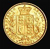 Sovereign 1880S Shield Reverse, Inverted A for V in VICTORIA S.3855, unlisted by Marsh, GVF/EF and lustrous, very rare in this grade
