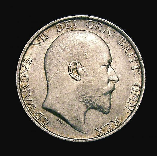 Shilling 1905 ESC 1414 GVF/NEF the key date, very rare in all grades above VF