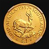 South Africa Pound 1957 Gold Proof KM#54 NGC PF65