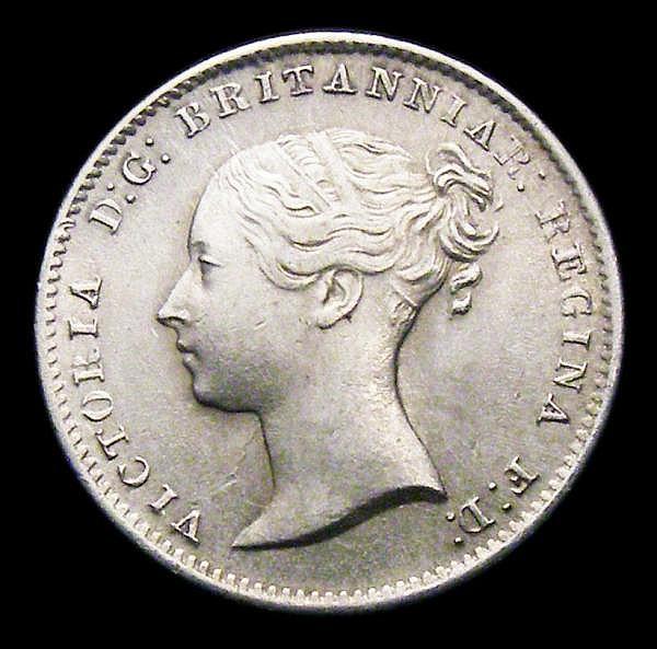 Threepence 1851 ESC 2059 EF/GEF