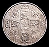 Florin 1879 38 Arcs, No WW ESC 852 NEF with some light contact marks and hairlines, Rare