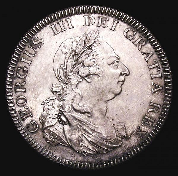 Dollar Bank of England 1804 Obverse A Reverse 2 ESC 144 NEF and lustrous with a tone spot on the E of ENGLAND, some traces of the underlying coins legend visible