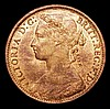 Penny 1875 Freeman 82 dies 8+J UNC and lustrous with some light contact marks