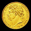 Sovereign 1821 Marsh 5 VF with some surface marks, and pinholes in the edge at 3 and 9 o'clock