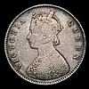 Mint Error - Mis-Strike India Half Rupee 1875 Plain edge Near Fine/Fine
