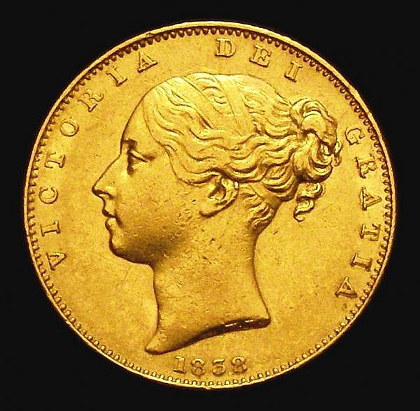 Sovereign 1838 Marsh 22 VF