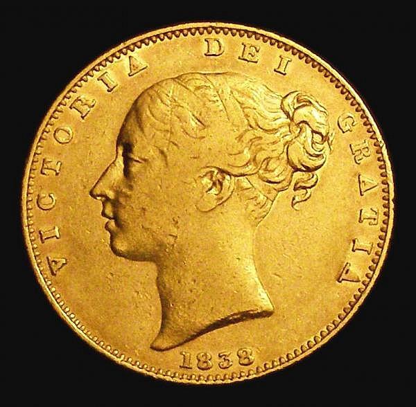 Sovereign 1838 Marsh 22 F/VF