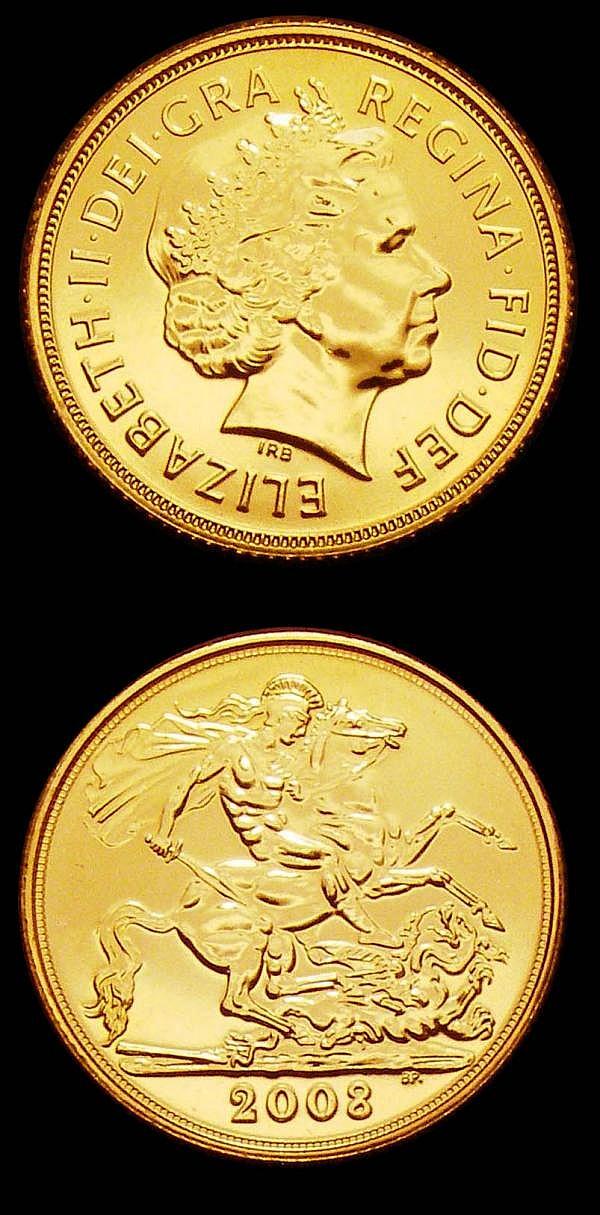 Sovereigns 2008 S.4430 (2) both lustrous UNC