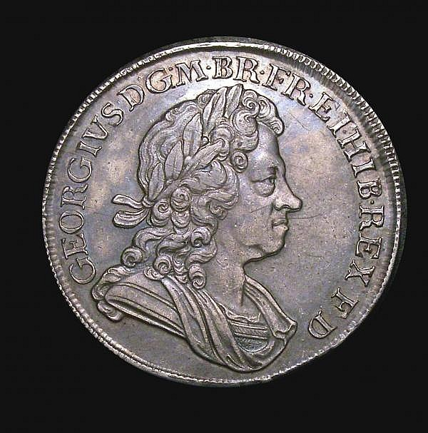 Crown 1718 8 over 6 Roses and Plumes QUINTO ESC 111A NEF the obverse with some adjustment lines, according to our archive database going back to 2003, this is the finest example we have offered