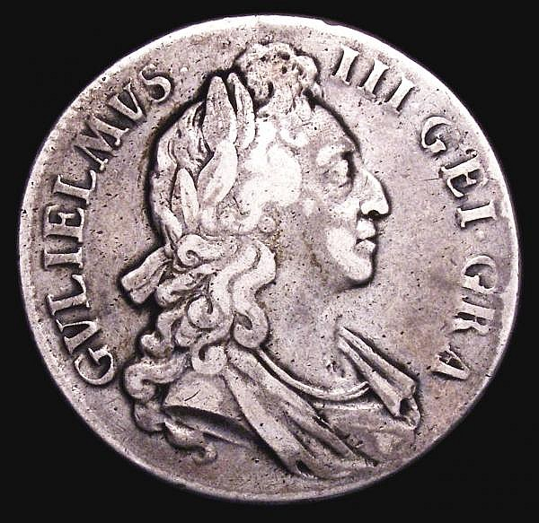 Crown 1696 GEI GRA error, the G of GRA closed and resembling G over reversed D, as ESC 91, approaching Fine, once cleaned, unusual