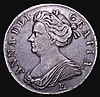 Crown 1707E ESC 103 VF with a pleasing grey tone, the obverse with some contact marks behind the bust, Ex-M.Rasmussen