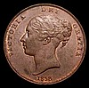 Penny 1858 Large Date, No WW 1 over smaller 1 with a small raised dot below the 1 of the date NEF, unusual