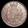 Crown 1845 Cinquefoil stops on edge ESC 282 GVF/VF for wear, the portrait rubbed