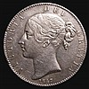 Crown 1847 Young Head ESC 286 VF, slabbed and graded CGS 50