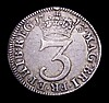 Maundy Threepence 1713 mule with obverse struck from the Fourpence die ESC 2014A S.3596B VF/NVF, Rare