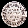 One Shilling and Sixpence Bank Token 1813 ESC 976 NEF